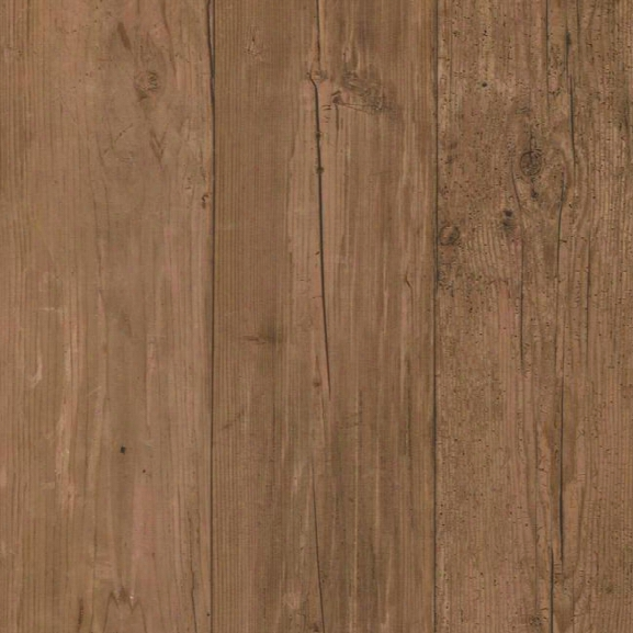 Wide Wooden Planks Wallpaper In Brown By York Wallcoverings
