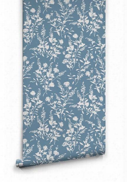 Wildflower Wallpaper In Cascade Tour Blue By Milton & King
