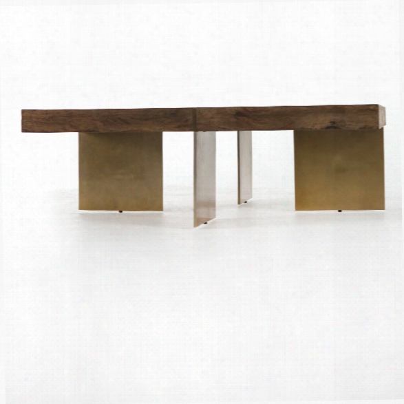 Willem Coffee Table In Antiqued Brass
