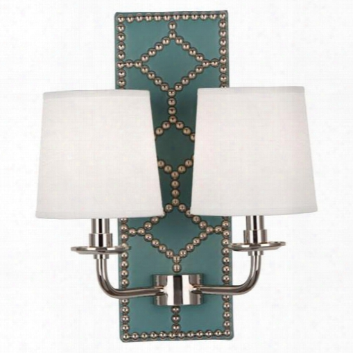 Williamsburg Lightfoot Mayo Teal Leather Wall Sconce Design By Jonathan Adler