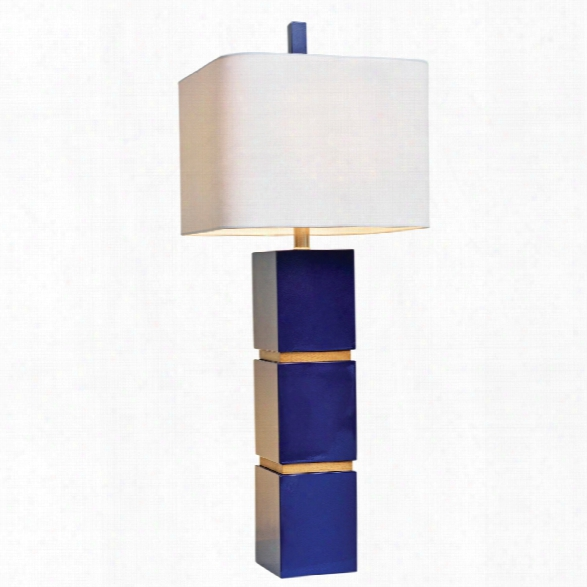 Wilshire Table Lamp In Idigo Design By Couture Lamps