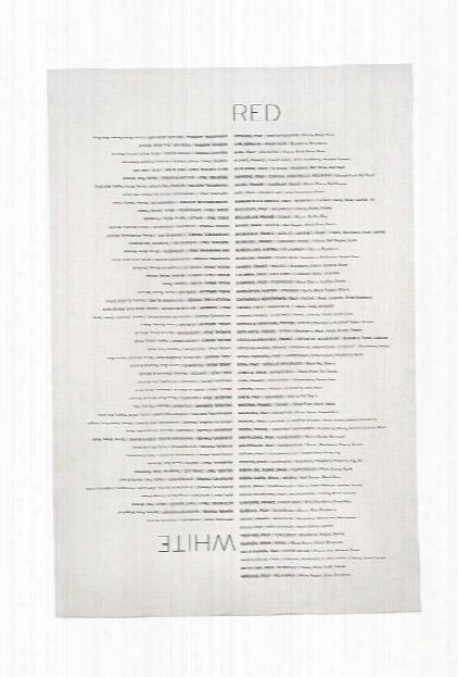 Wine List Tea Towel Design By Sir/madam