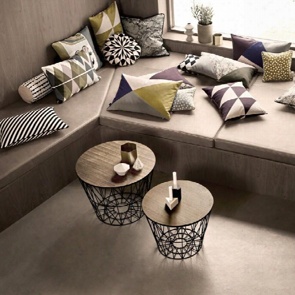 Wire Basket Top Smoked Oak Design By Ferm Living
