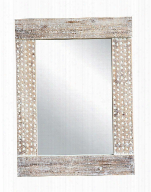 Wood Wall Mirror In White Wash Design By Bd Edition