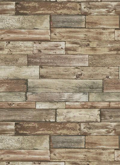 Wood Allpaper In Brown Design By Bd Wall