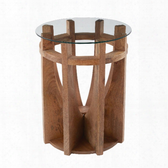 Woden Sundial Side Table Design By Lazy Susan