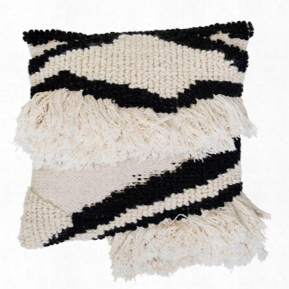Wool Blend Pillow In Black & White Design By Bd Edition