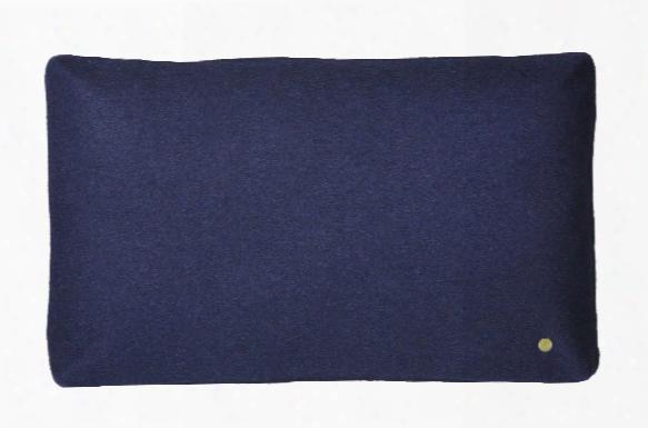 Wool Cushion In Dark Blue Design By Ferm Living