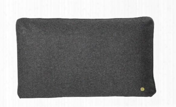 Wool Cushion In Dark Grey Design By Ferm Living