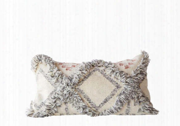 Wool Fringed Kilim Pillow Design By Bd Edition