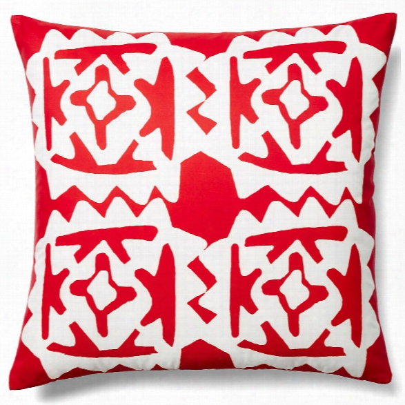 Worli Red Outdoor Pillow Design By Allem Studio