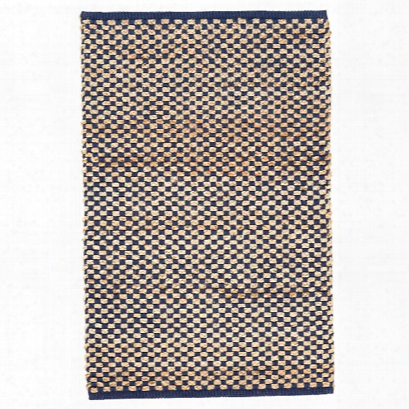 Boomer Navy Woven Jute Rug Design By Dash & Albert
