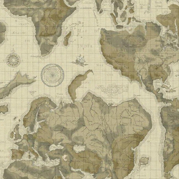 Boun Viaggio Wallpaper In Beige By York Wallcoverings