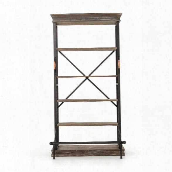 Braxton Single Bookcase In Washed Grey