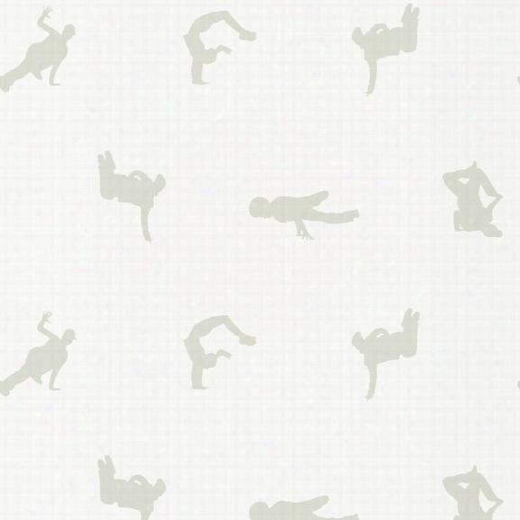 Breakers Self Adhesive Wallpaper In Pigeon By Genevieve Gorder For Tempaper