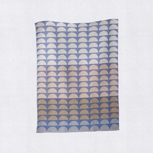 Bridges Tea Towel In Blue Design By Ferm Living