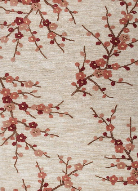 Brio Collction Cherry Blossom Rug In Colorado Clay Design By Jaipur