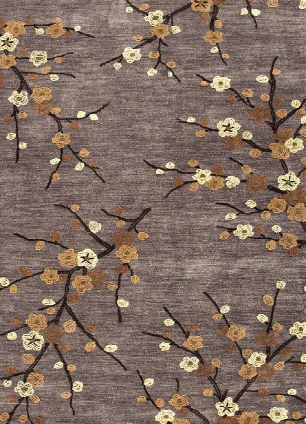 Brio Collection Cherry Blossom Rug In Steel Design By Jaipur