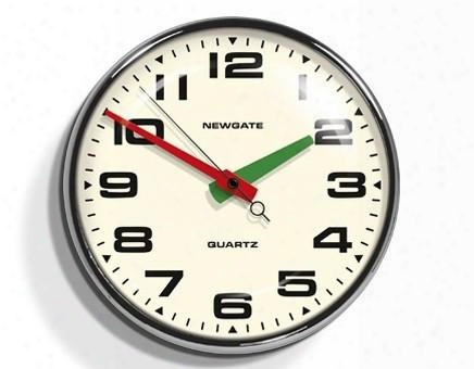 Brixton Wall Clock In Chrome Design By Newgate