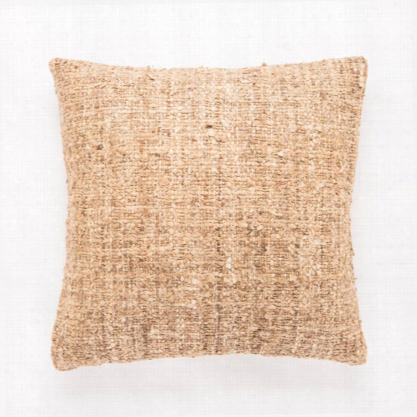 Brown & Tan Textured Anja Throw Pillow Design By Jaipur