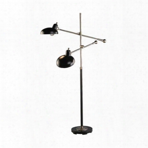 Bruno Collection Adjustable Double-arm Pharmacy Floor Lamp Design By Jonathan Adler