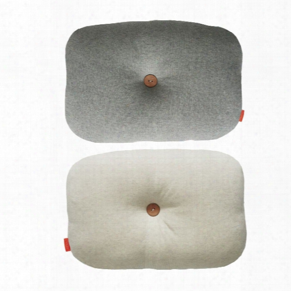 Bumble Cushion In White & Light Grey Design By Oyoy