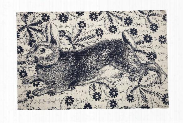 Bunny Transferware Bath Mat Design By Thomas Paul