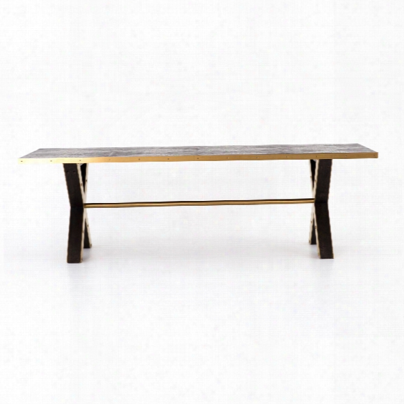 Burton Dining Table In Polished Brass