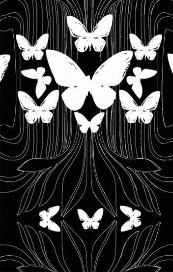 Butterflies Wallpaper In Black And White Design By Kreme