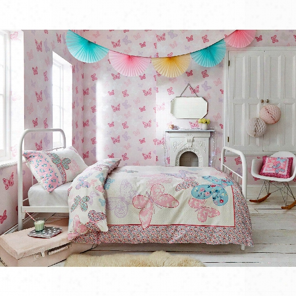 Butterfly Pink Wallpaper From The Kids Collection By Graham & Brown
