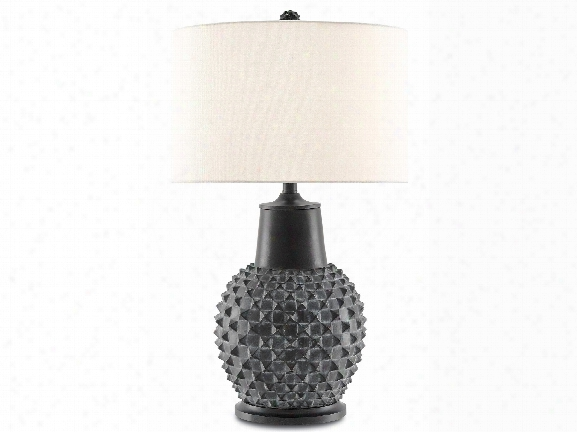 Byzantine Table Lamp In Distressed Black Design By Currey & Company