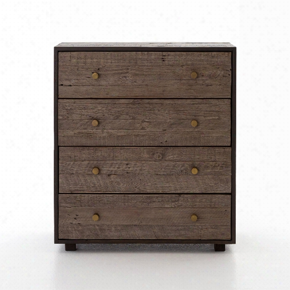 Calais 4 Drawer Dresser In Rustic Brown