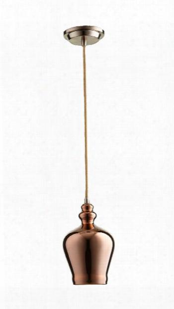 Calista Pendant In Satin Copper Design By Cyan Design
