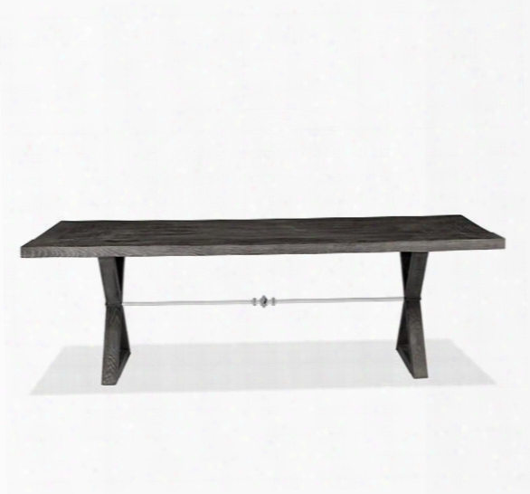 Callum Dining Table In Charcoal Ceruse Design By Interlude Home