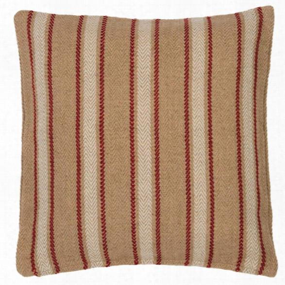 Cambridge Red Indoor/outdoor Pillow Design By Fresh American