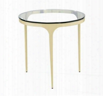 Camilla Glass Brass Side Table Design By Interlude Home