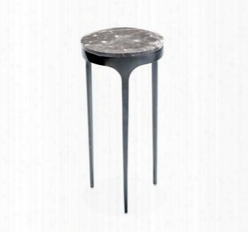 Camilla Glass Italian Gray Gunmetal Drink Table Design By Interlude Home