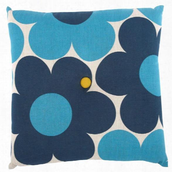 "Camo/daisy Seat Cushion 16""x16"" Design By Thomas Paul"