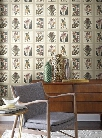 Botany Wallpaper in Grey and Neutrals by Ashford House for York Wallcoverings