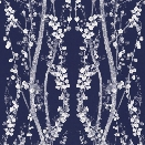 Branches Self Adhesive Wallpaper in Mystery Blue design by Tempaper