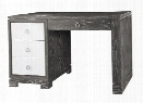 Brooke Desk in Gray Cerused Oak by Bungalow 5