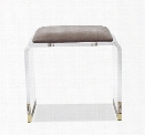 Brynn Stool in Grey Velvet design by Interlude Home