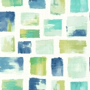 Burano Wallpaper in Blues and Greens design by York Wallcoverings