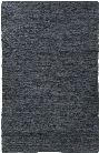 Woven Leather Rug in Slate Blue