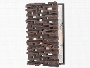Yuukei Wall Sconce in Faux Wenge design by Currey & Company