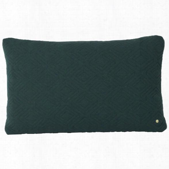 Xl Quilt Cushion In Dark Green Design By Ferm Living
