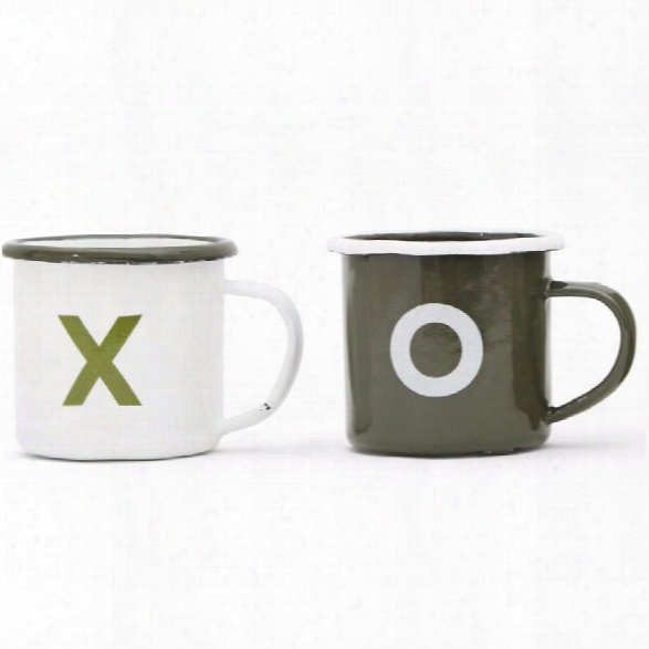 Xo Set Of 2 Mugs Design By Izola