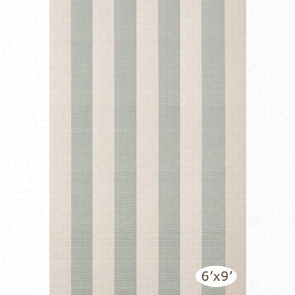 Yacht Stripe Ocean Woven Cotton Rug Design By Dash & Albert