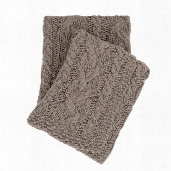 Yarn Bomb Knit Grey Throw Design By Pine Cone Hill