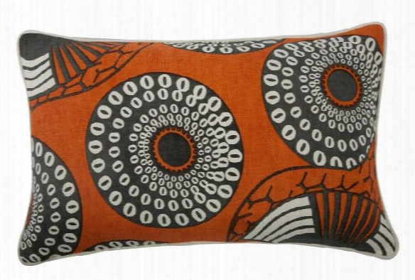 "Yinka 12"" X 20"" Reversible Pillow In Alcazar Design By Thomas Paul"